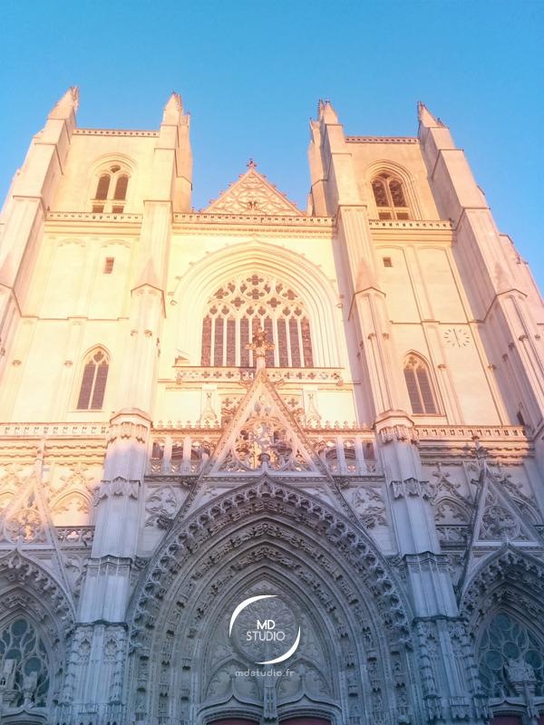 heure dorée sur la Cathédrale de Nantes | vue 3 | photo MDstudio