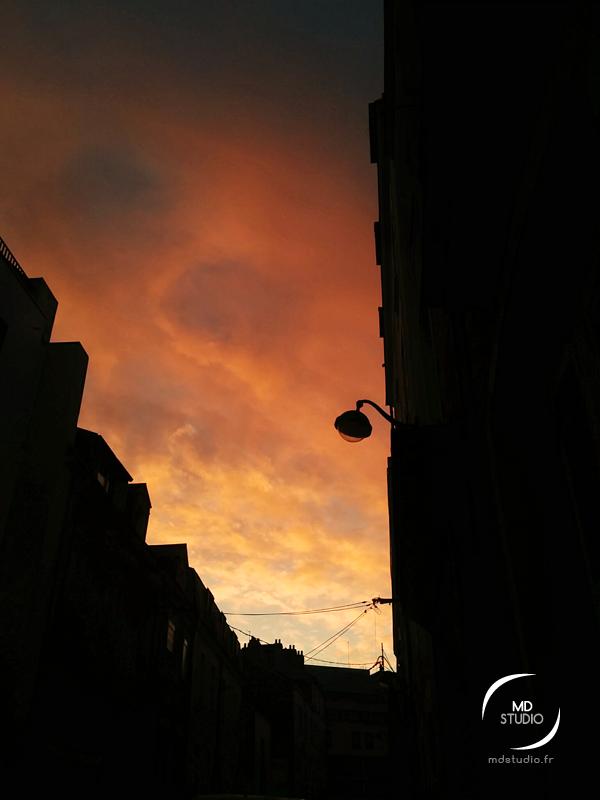 ciel de janvier, rue d'Orléans à Nantes | MDstudio
