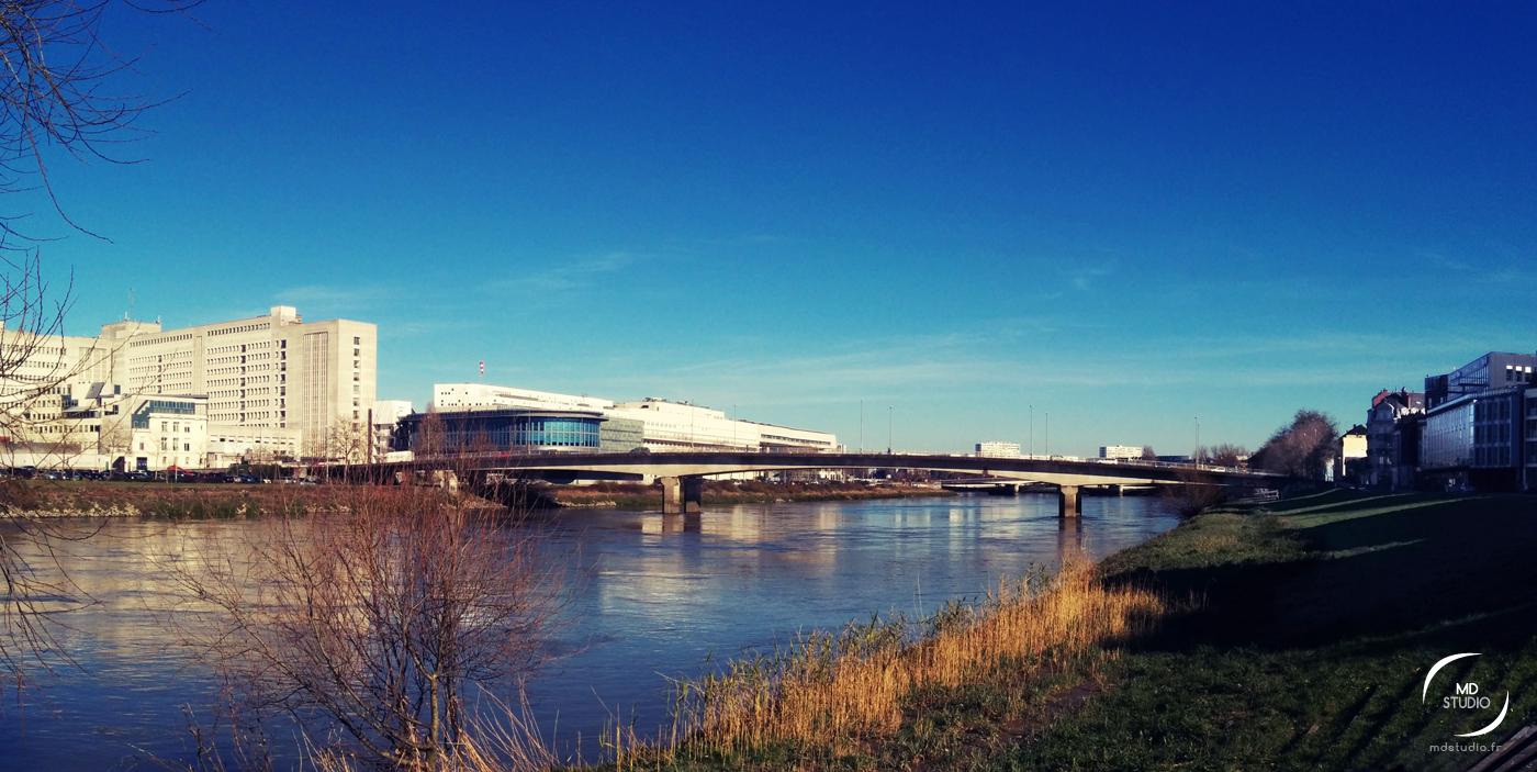 Loire à Nantes | héliport du CHU et pont du Général Audibert | MDstudio
