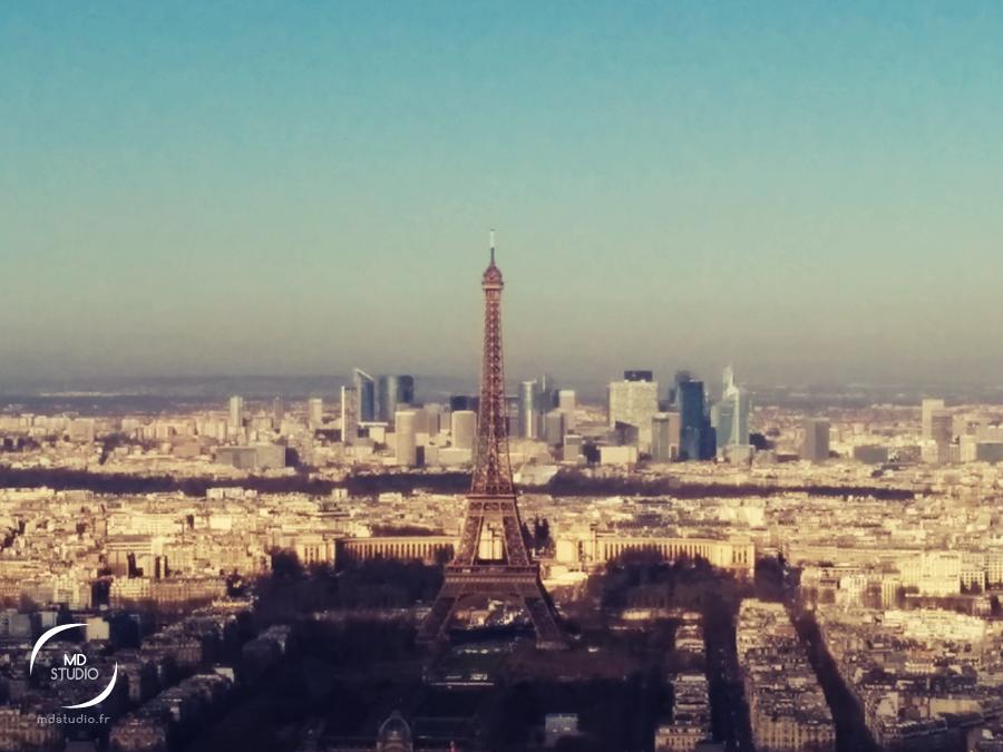 Tour Eiffel matinale | vue depuis la Tour Montparnasse | MDstudio