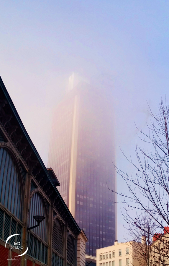tour Bretagne, Nantes un après-midi de brouillard