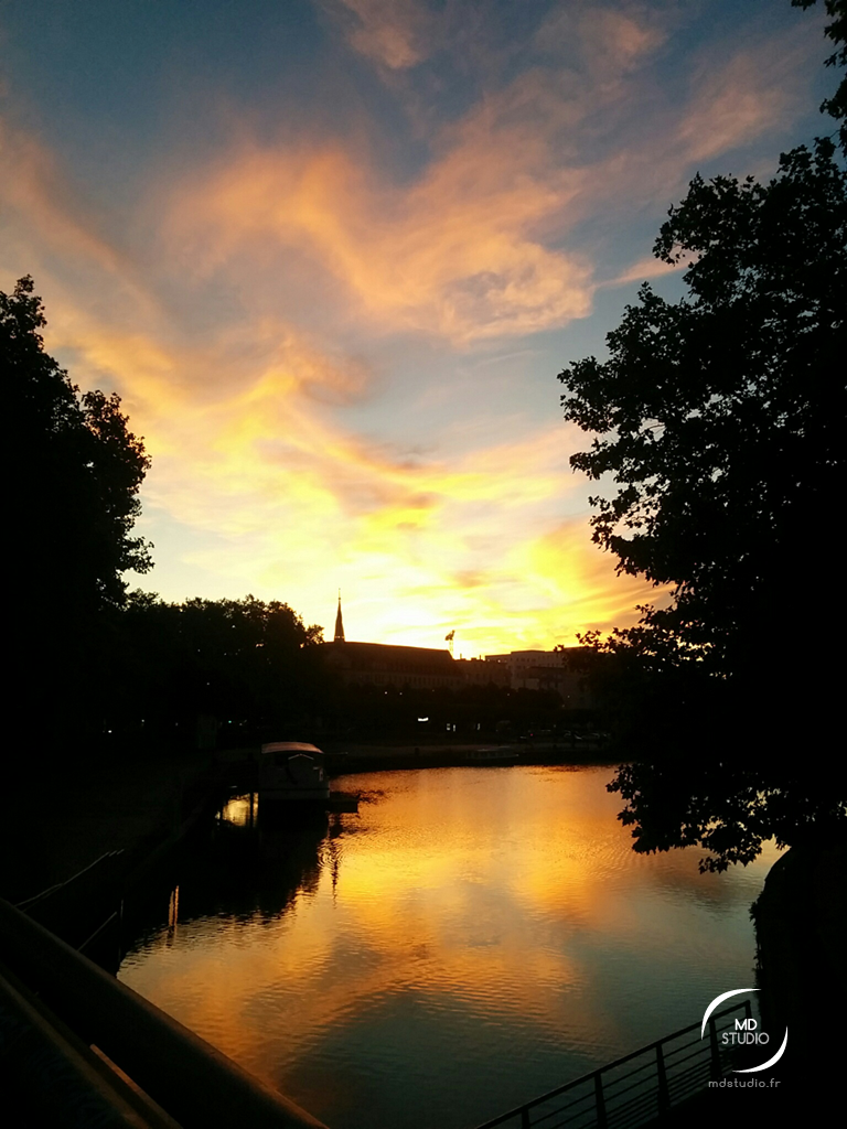 Un matin sur le canal Saint Félix | golden hour Nantes | MDstudio