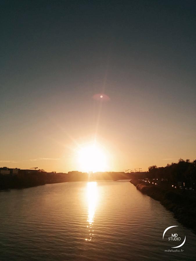 Coucher de soleil sur le bras de la Madeleine | Loire à Nantes | MDstudio