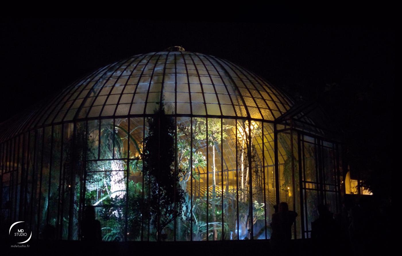 Serres Tropicales en visite nocturne | Jardin des Plantes de Nantes | photo MDstudio