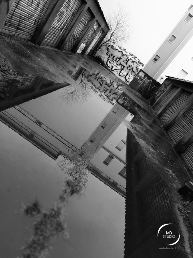 reflet de rue | vue 1 en diagonale | MDstudio