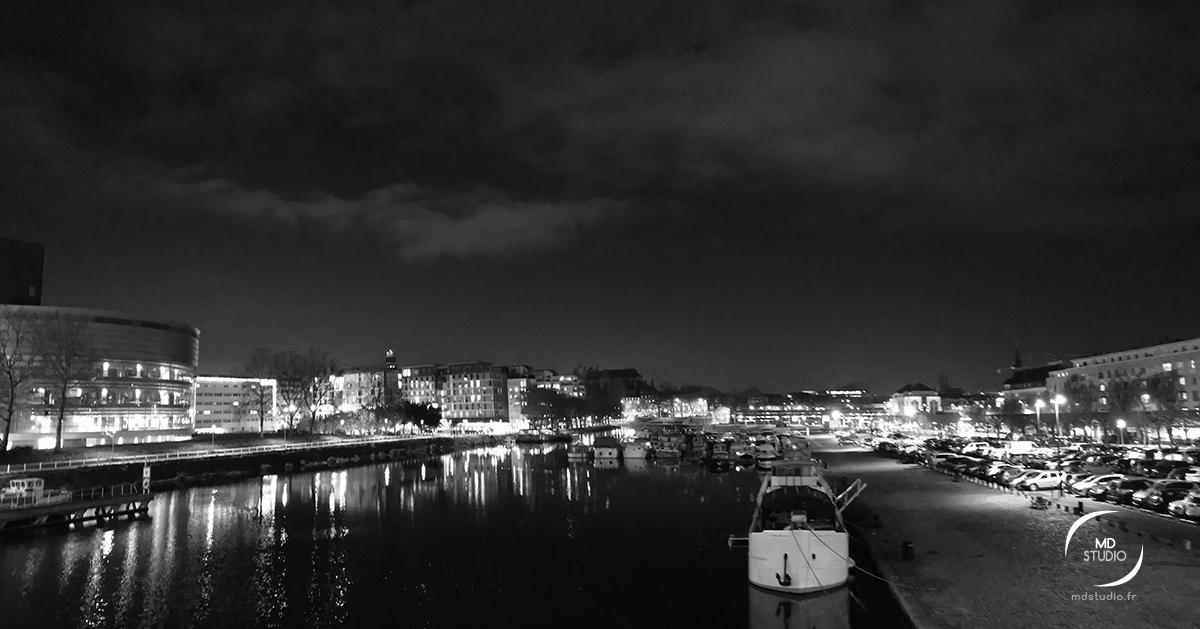 panorama sur le canal Saint Félix, Erdre à Nantes