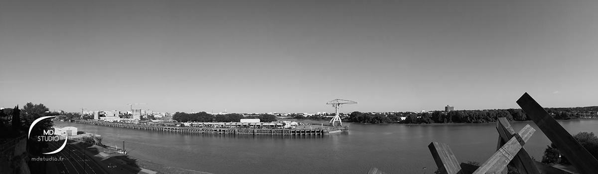 vue panoramique de la Loire à Nantes depuis le Belvédère de l'Hermitage | photo MDstudio