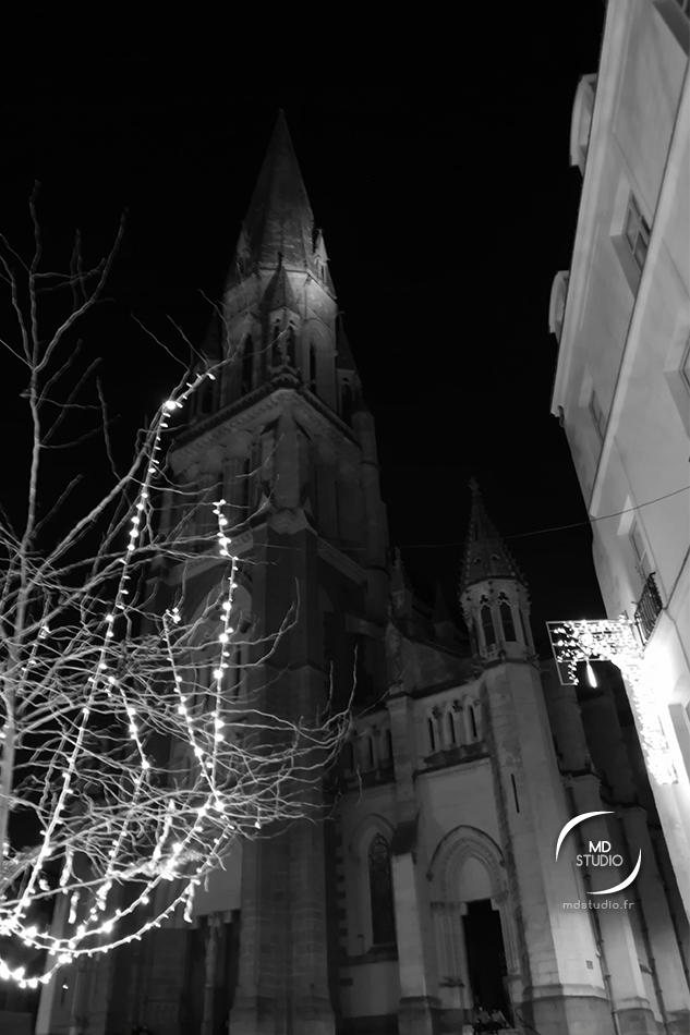 arbre et décorations de Noël - église St Nicolas à Nantes | photo MDstudio