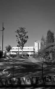 Gare de Nantes côté Ouest, jardin paysagé du canal de l'Erdre   photo MDstudio