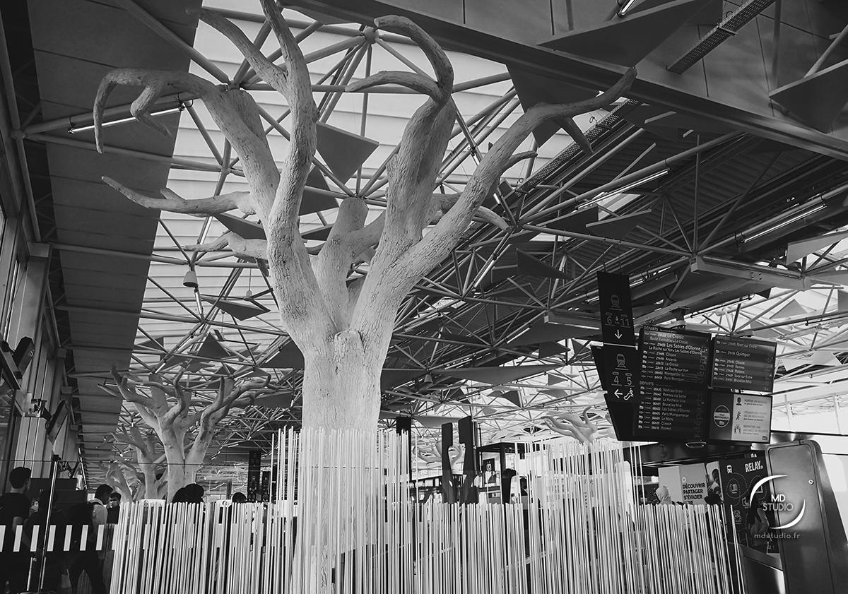 Arbre d'architecture, passerelle Gare de Nantes | photo MD studio